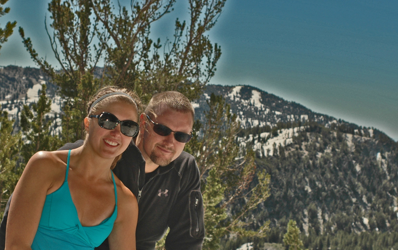 Engaged on Mount Rose near Tahoe