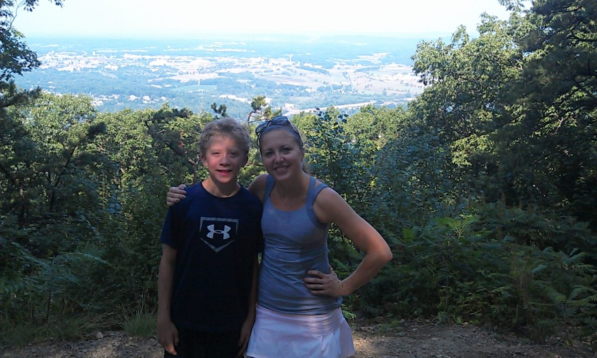 Jason and Merelyn on the Mt Nittany Trail