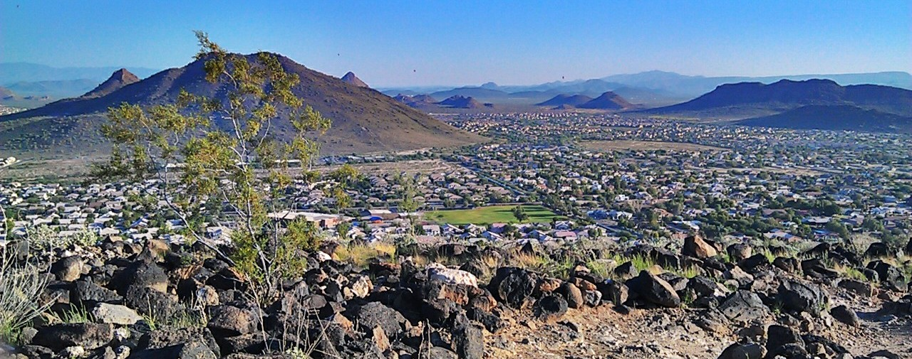 View from the summit of Thunderbird Mountain