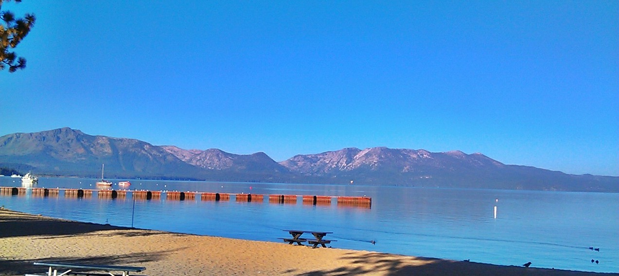 Morning run at lake Tahoe...