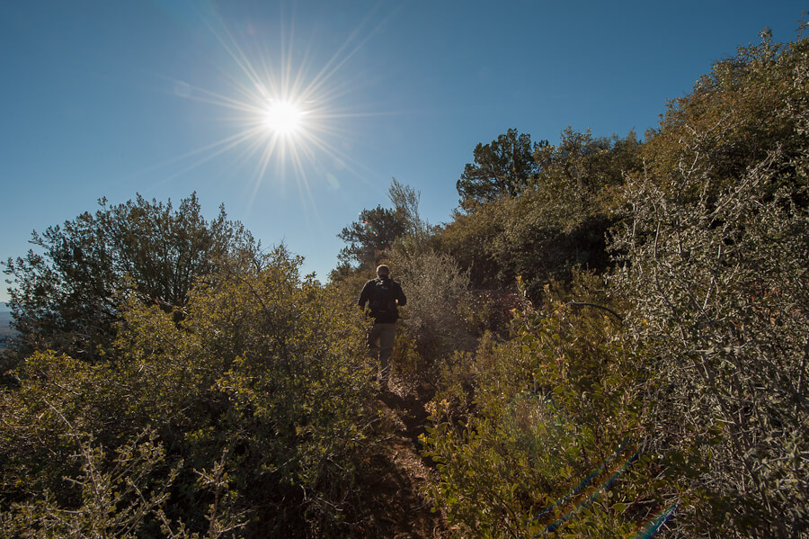 Wilderness Dave hiking Cold Spring Canyon Trail - by Jabon Eagar
