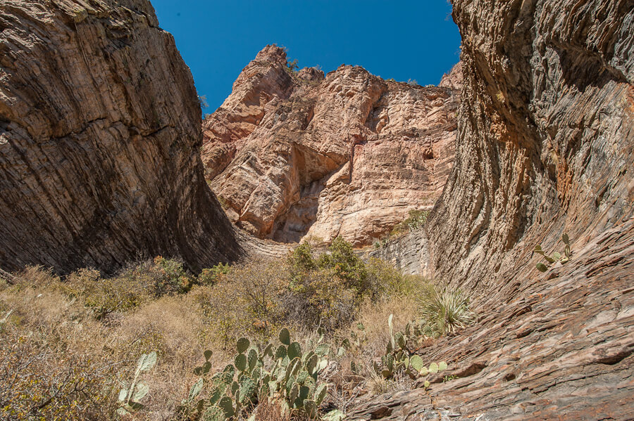 The Punch Bowl below the ruins in Cold Spring Canyon - by Jabon Eagar - Sierra Ancha Wilderness