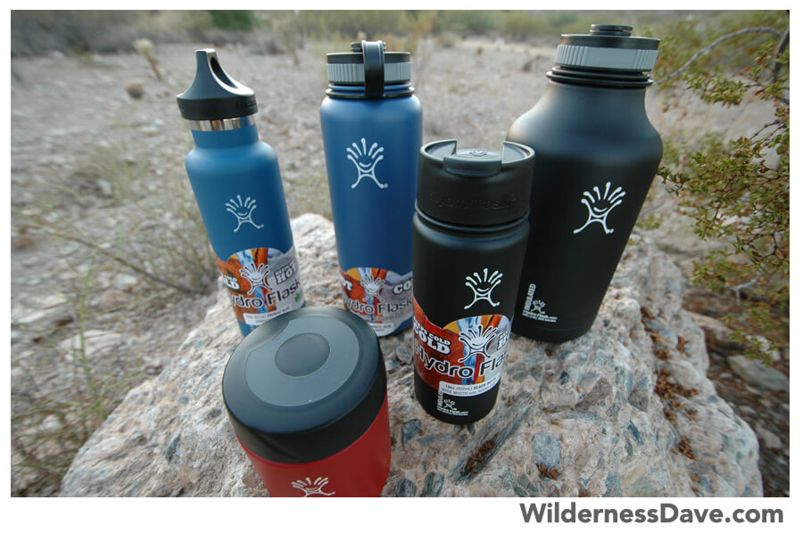 Assorted Hydroflask bottles