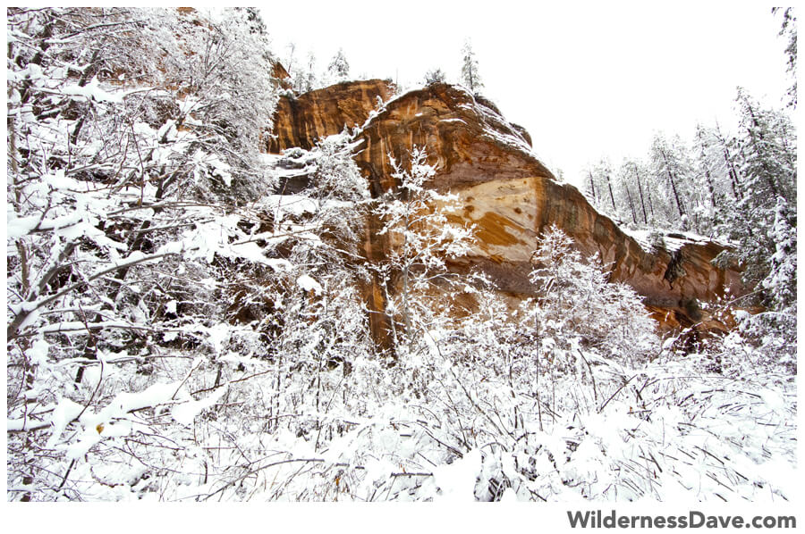 Sedona Snow in West Fork Oak Creek Canyon