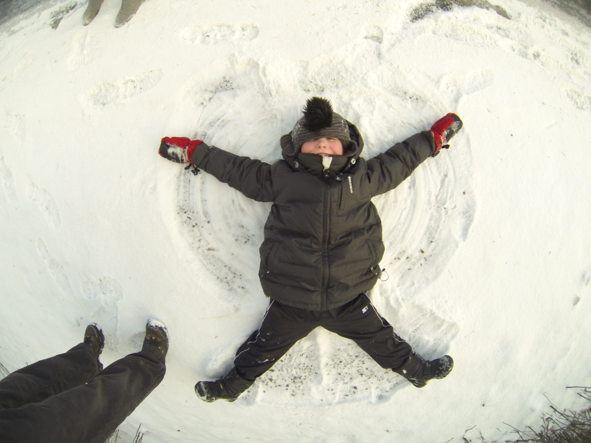 Winter in Oregon - snow angels