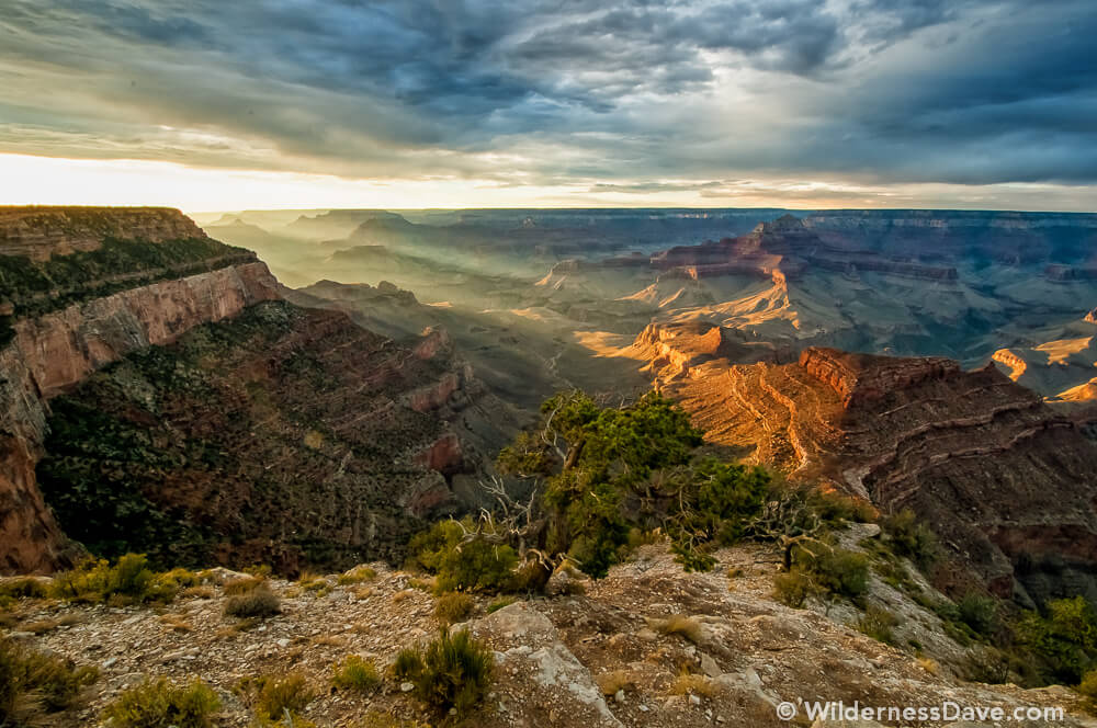 Shoshone Point- Sunset in Grand Canyon