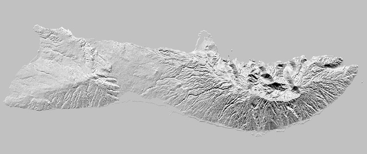shaded relief map