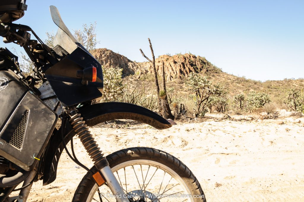 Motorcycles in the desert in Baja